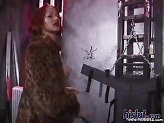 Sonya Sovereign is a merciless mistress arriving in her expensive furs to take time out of her busy day to punish an insolent slave who has been misbe
