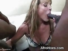 White Bitch Sucking Big Black Dick