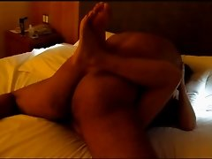 Wife With Her Lover In Hotel Bed