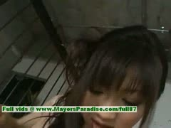 Akari Satsuki innocent lovely chinese girl enjoys giving blowjob