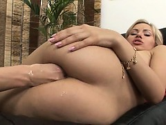 This hot blondie loves brutal anal fist