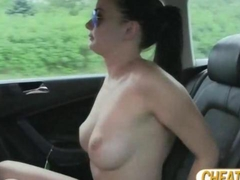 Super pretty and sexy amateur gets scammed and pays awesome sex in taxi