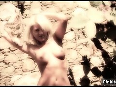 Awesome blonde completely naked rubs part4
