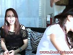 Real CFNM amateur brunette giving brain