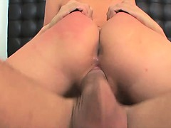 Hot ass bouncing on thick older cock