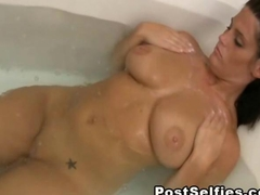 My hot milf filmed naked in the bathroom