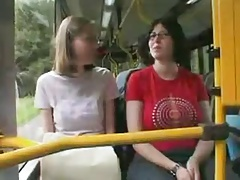 Amateur - Stunning Brunette Exhibitionist Show on Train