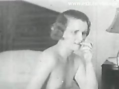 Real unique Vintage movie from 1931 ! Lesbian experiment 2 hairy bored housewife milfs. Licking each other hairy pussy and fucking each other with a d
